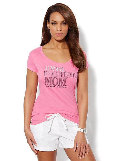 Love, NY&C Collection – Always Beautiful Mom Logo Tee