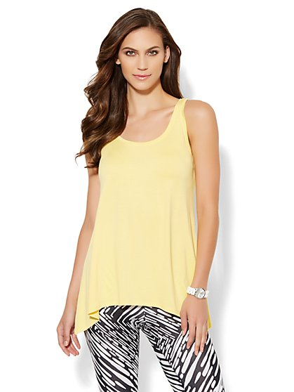 Love, NY&C Collection - Asymmetrical Hem Tunic - New York & Company