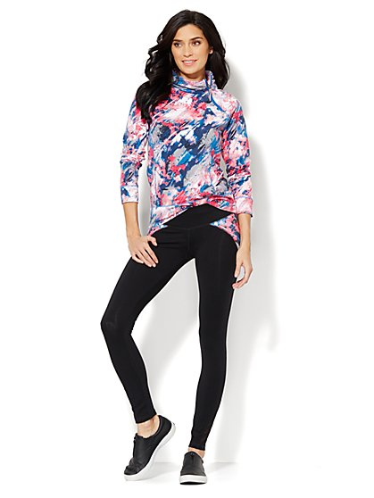 Love, NY&C Collection - Asymmetrical Zip Top - Printed  - New York & Company