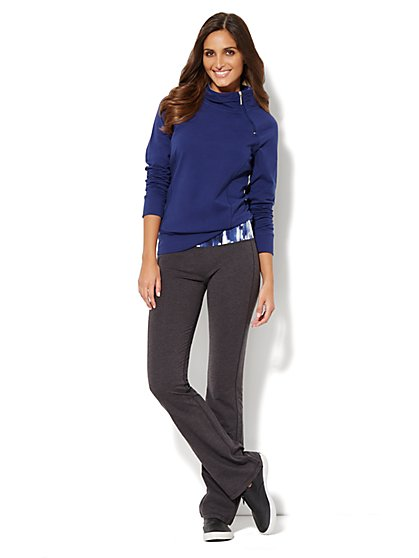 Love, NY&C Collection - Asymmetrical Zip Top - Solid  - New York & Company