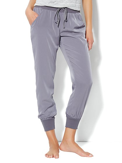 Love, NY&C Collection - Banded-Hem Silky Pant