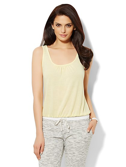 Love, NY&C Collection - Banded-Hem Solid Tank Top  - New York & Company