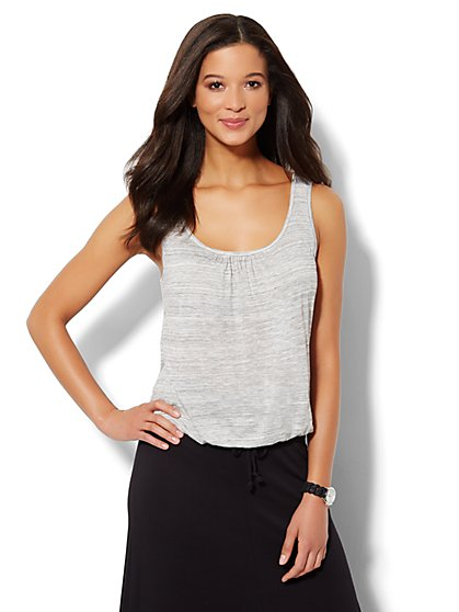 Love, NY&C Collection - Banded-Hem Tank Top  - New York & Company