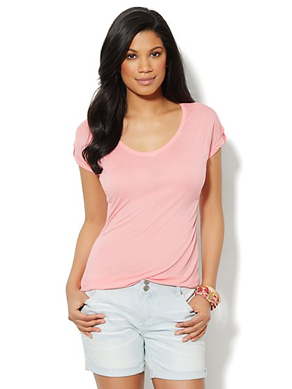 Love, NY&C Collection - Banded-Hem Top