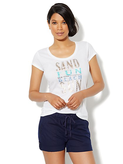 Love, NY&C Collection - Beach Logo Tee - New York & Company