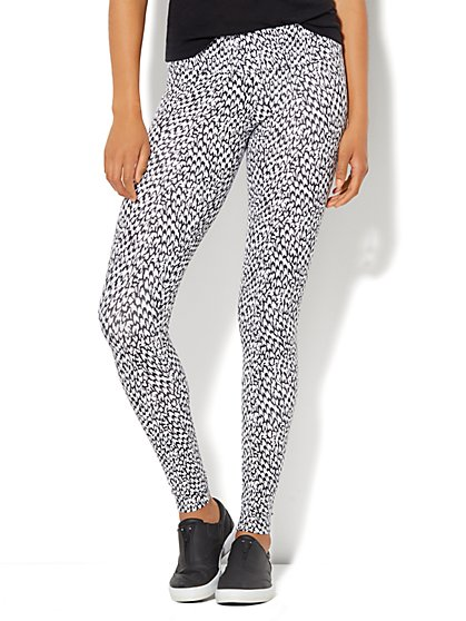 Love, NY&C Collection - Black & White Yoga Legging - New York & Company