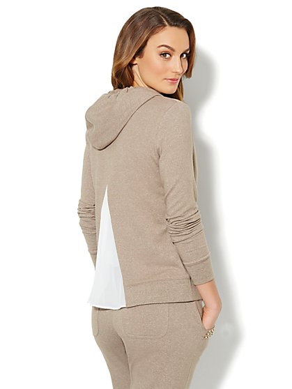 Love, NY&C Collection - Chiffon-Back Hoodie  - New York & Company