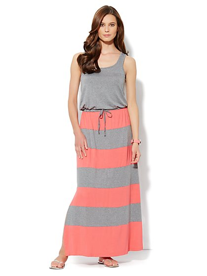 Love, NY&C Collection - Colorblock Maxi Dress