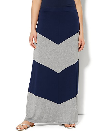 Love, NY&C Collection - Colorblock Maxi Skirt