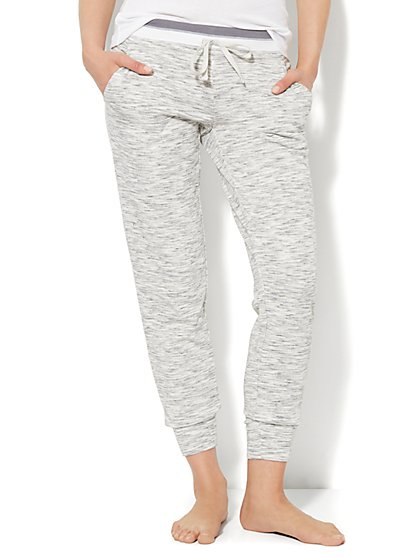 Love, NY&C Collection - Contrast-Trim Jogger - Heathered  - New York & Company