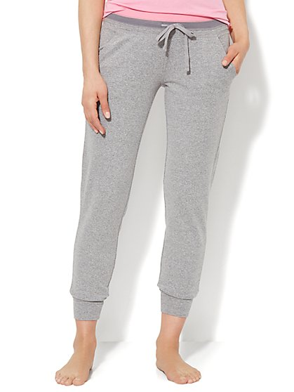 Love, NY&C Collection - Contrast-Trim Jogger - Solid  - New York & Company