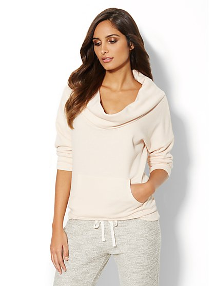 Love, NY&C Collection - Cowl-Neck Dolman-Sleeve Sweatshirt  - New York & Company