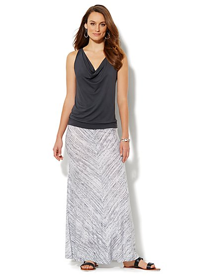 Love, NY&C Collection - Cowl-Neck Tie-Back Top  - New York & Company
