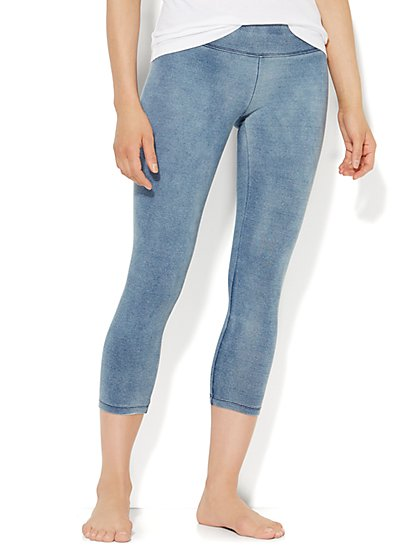 Love, NY&C Collection - Crop Yoga Legging - Denim  - New York & Company