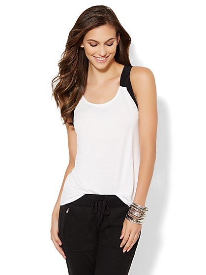 Love, NY&C Collection - Crossback Halter Top  - New York & Company