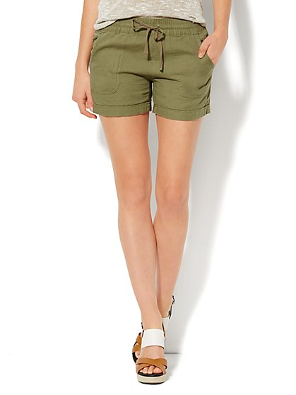 Love, NY&C Collection - Cuffed Linen Short  - New York & Company