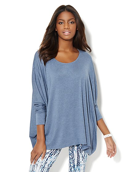 Love, NY&C Collection - Dolman Sharkbite Tunic - New York & Company