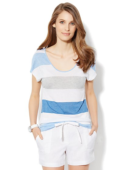 Love, NY&C Collection - Dolman-Sleeve Stripe Top