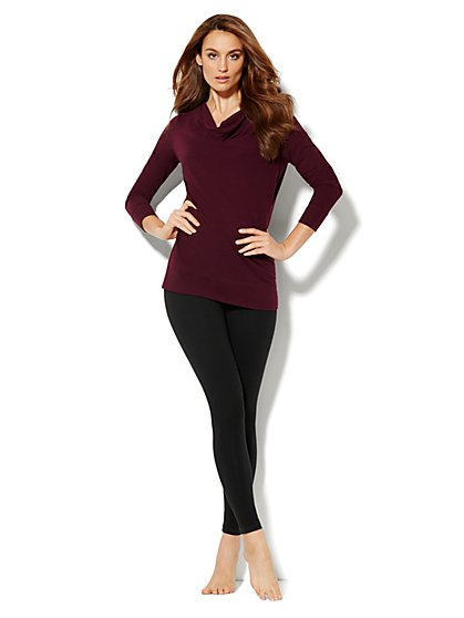 Love, NY&C Collection - Draped-Neck Pullover - Solid - New York & Company