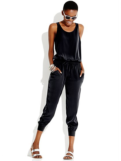 Love, NY&C Collection - Drawstring Jogger Jumpsuit