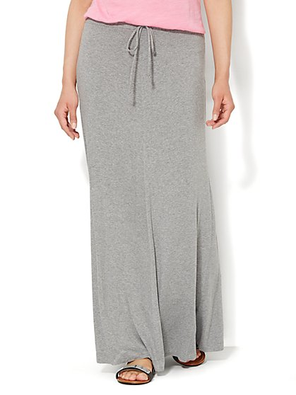 Love, NY&C Collection - Drawstring Maxi Skirt - Solid  - New York & Company