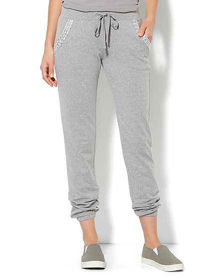 Love, NY&C Collection -  Embellished Jogger Sweatpant - New York & Company