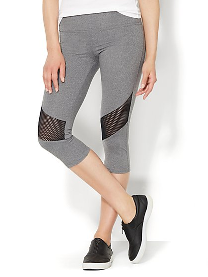 Love, NY&C Collection - Envy Mesh Colorblock Crop Legging  - New York & Company