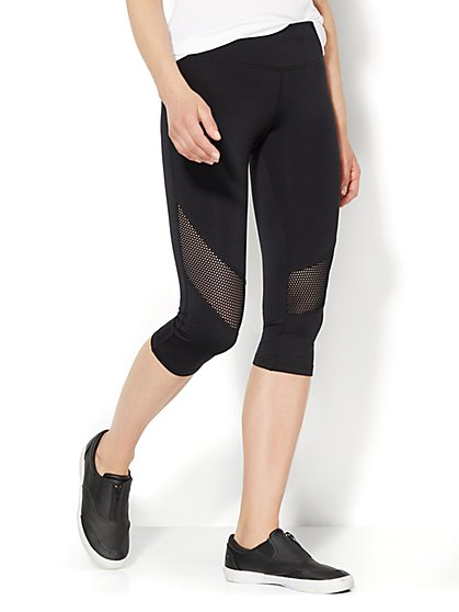 Love, NY&C Collection - Envy Mesh Crop Legging  - New York & Company