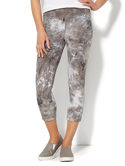 Love, NY&C Collection - Envy Tie-Dye Cropped Legging - New York & Company