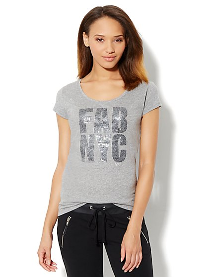 Love, NY&C Collection - Fab NYC Logo Tee-Shirt - New York & Company