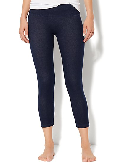 Love, NY&C Collection - Faux-Denim Crop Legging