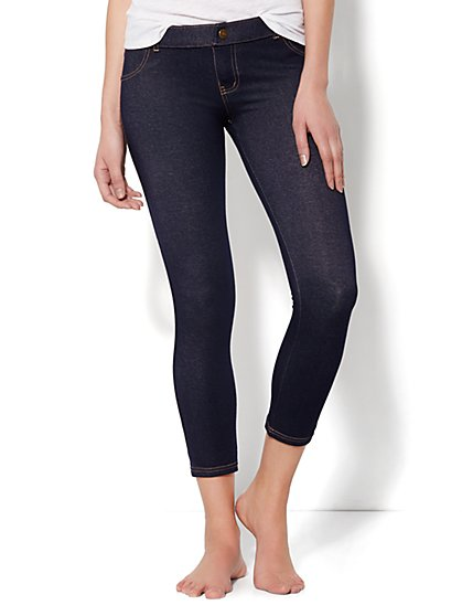 Love, NY&C Collection - Faux-Denim Legging Crop