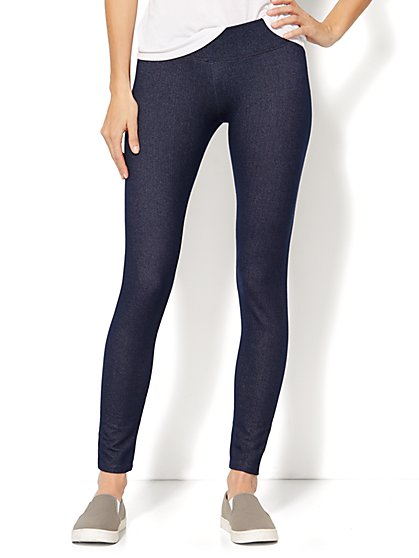 Love, NY&C Collection - Faux-Denim Legging  - New York & Company