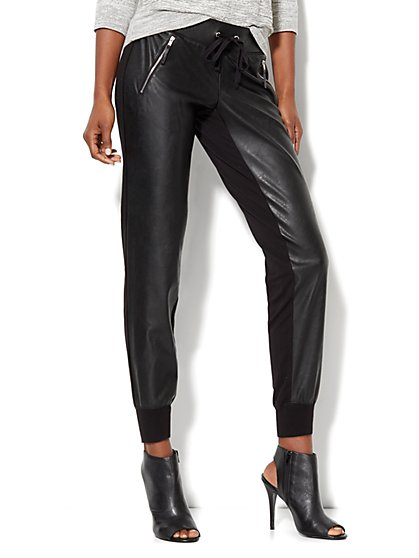 Love, NY&C Collection - Faux-Leather Jogger - New York & Company