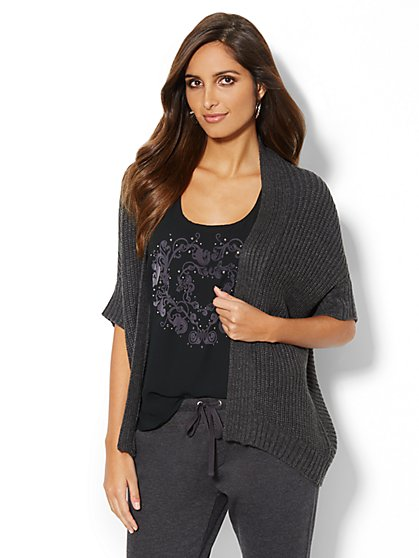 Love, NY&C Collection - Flyaway Dolman-Sleeve Cardigan - New York & Company
