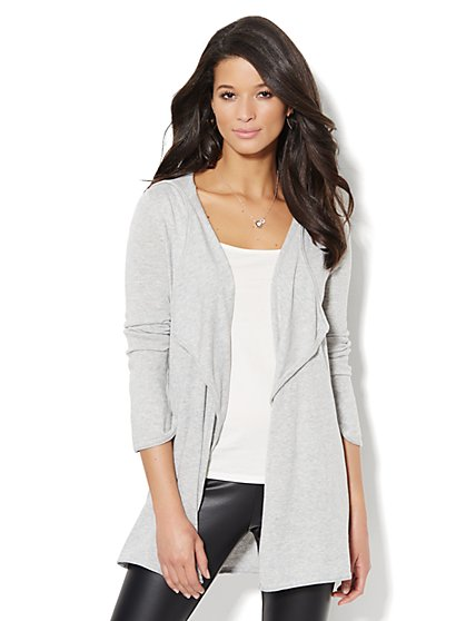 Love, NY&C Collection - Flyaway  Hooded Cardigan  - New York & Company