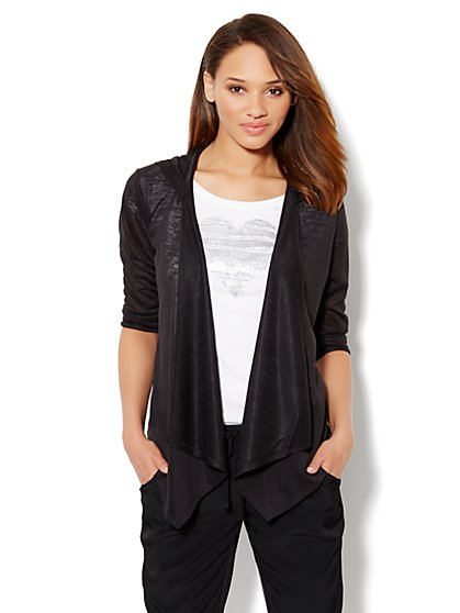 Love, NY&C Collection - Flyaway Hooded Cardigan