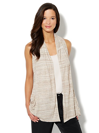 Love, NY&C Collection - Flyaway Jaspe Cardigan - New York & Company