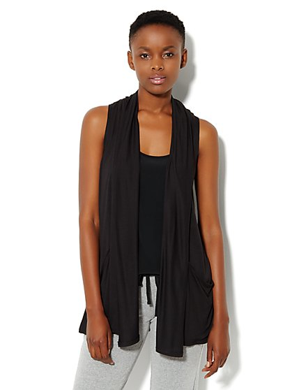 Love, NY&C Collection - Flyaway Sleeveless Cardigan - New York & Company