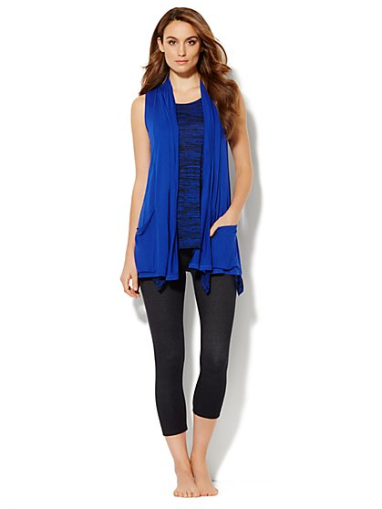 Love, NY&C Collection - Flyaway Sleeveless Cardigan