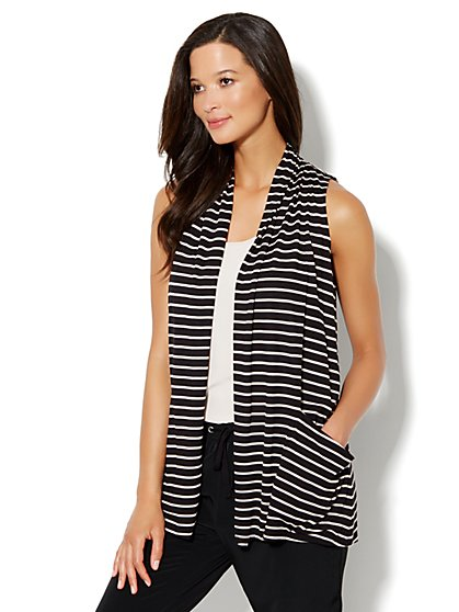 Love, NY&C Collection - Flyaway Stripe Cardigan