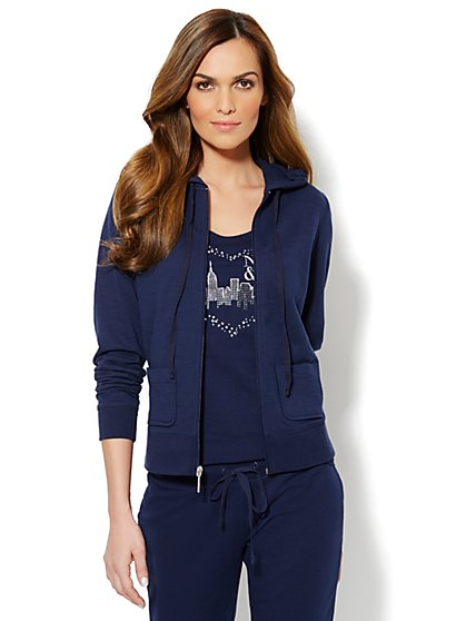 Love, NY&C Collection - French Terry Hooded Jacket - New York & Company