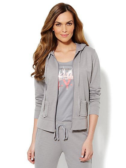 Love, NY&C Collection - French Terry Hooded Jacket