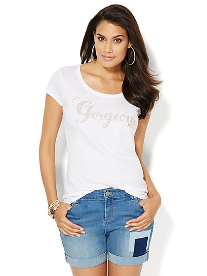 Love, NY&C Collection - Gorgeous Logo Tee  - New York & Company