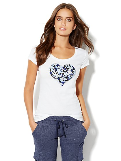 Love, NY&C Collection - Heart Logo Tee Shirt