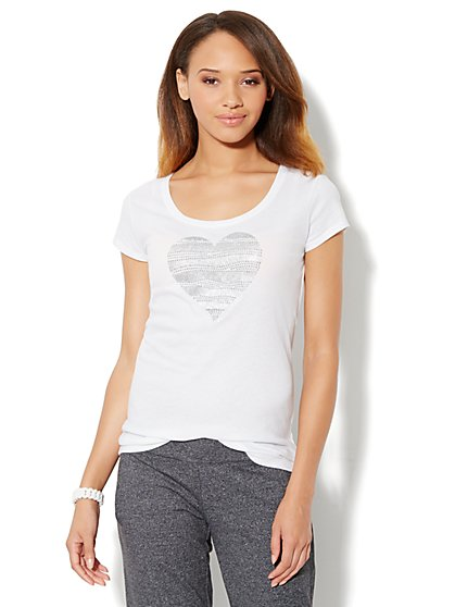 Love, NY&C Collection - Heart Logo Tee - New York & Company