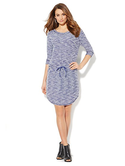 Love, NY&C Collection - Heathered Shirttail Dress  - New York & Company