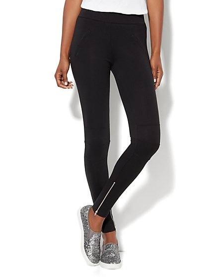 Love, NY&C Collection - High-Waist Moto Legging - New York & Company