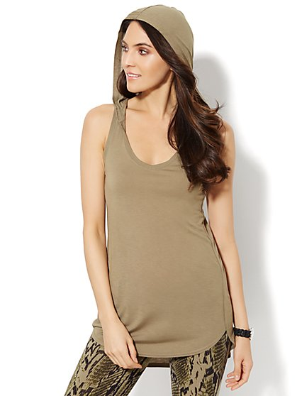 Love, NY&C Collection - Hooded Tank Top  - New York & Company