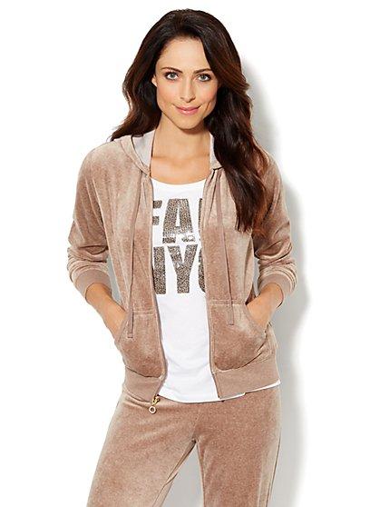 Love, NY&C Collection - Hooded Velour Jacket - New York & Company